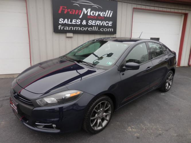 2013 Blue Dodge Dart (1C3CDFBAXDD) with an L4, 2.0L; DOHC 16V engine, AT transmission, located at 8464 Route 219, Brockway, PA, 15824, (814) 265-1330, 41.226871, -78.780518 - Photo #0