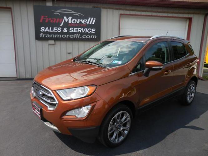 2018 DK RED Ford EcoSport (MAJ6P1WL0JC) with an 2.0L L4 DOHC 16V engine, 6A transmission, located at 8464 Route 219, Brockway, PA, 15824, (814) 265-1330, 41.226871, -78.780518 - Photo #0