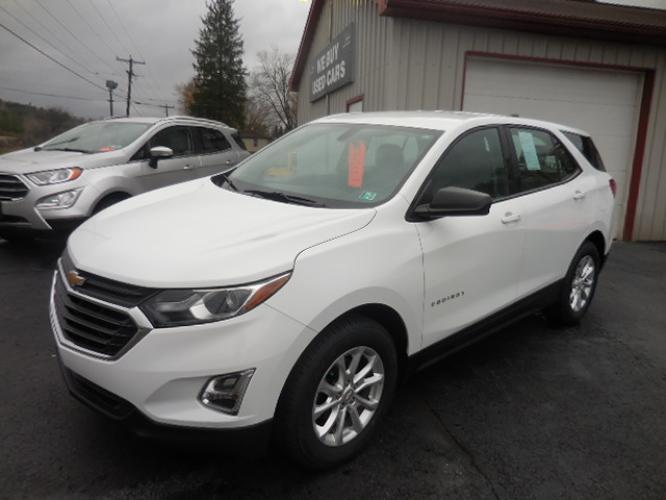 2018 White Chevrolet Equinox LS AWD (2GNAXREV4J6) with an 1.5L L4 DIR DOHC 16V TURBO engine, 6A transmission, located at 8464 Route 219, Brockway, PA, 15824, (814) 265-1330, 41.226871, -78.780518 - Photo #0