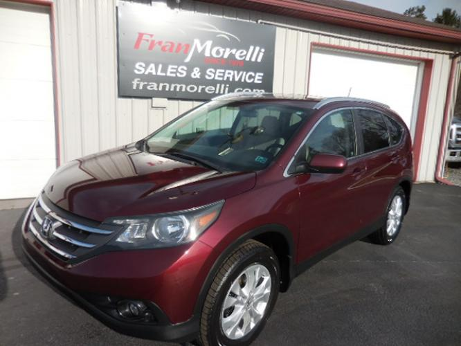 2012 BURGANDY Honda CR-V EX-L 4WD 5-Speed AT (5J6RM4H76CL) with an 2.4L L4 DOHC 16V engine, 5-Speed Automatic transmission, located at 8464 Route 219, Brockway, PA, 15824, (814) 265-1330, 41.226871, -78.780518 - Photo #0