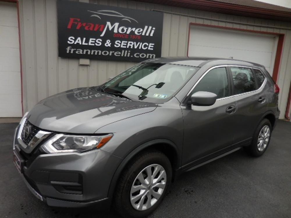 2018 Gray Nissan Rogue S AWD (KNMAT2MV0JP) with an 2.5L L4 DOHC 16V engine, CVT transmission, located at 8464 Route 219, Brockway, PA, 15824, (814) 265-1330, 41.226871, -78.780518 - Photo #0