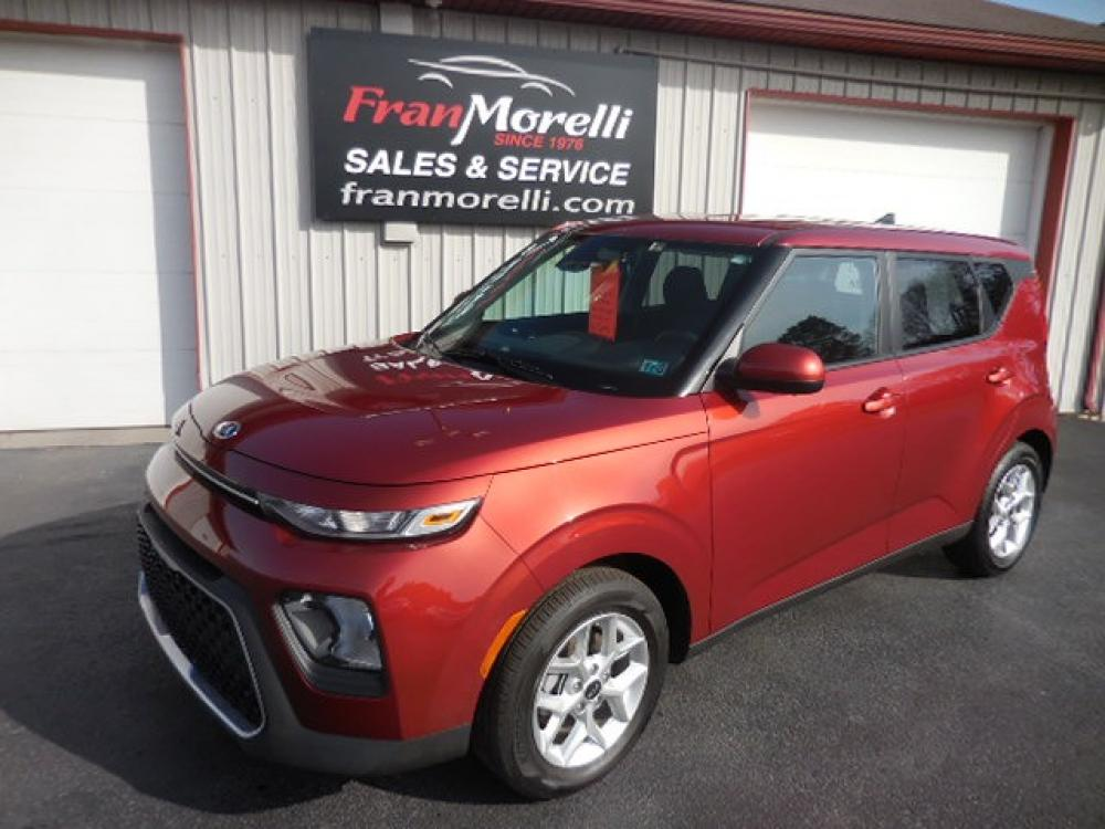 2021 Red Kia Soul LX CVT (KNDJ23AU0M7) with an 2.0L L4 DOHC 16V engine, CVT transmission, located at 8464 Route 219, Brockway, PA, 15824, (814) 265-1330, 41.226871, -78.780518 - Photo #0